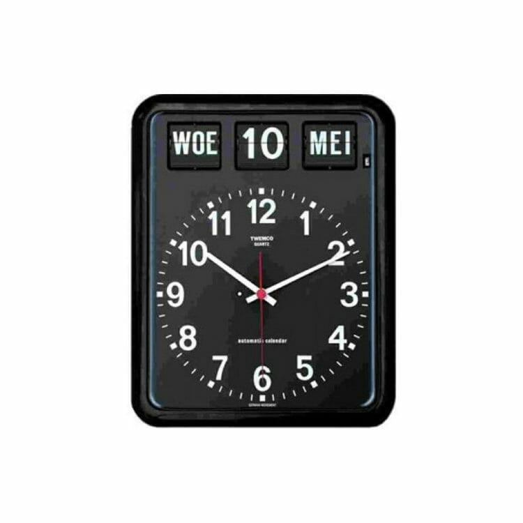 Kalenderklok Twemco BQ-12 zwart ST644102