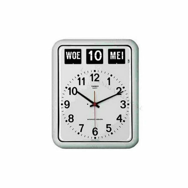 Twemco BQ-12 wit Kalenderklok ST644103
