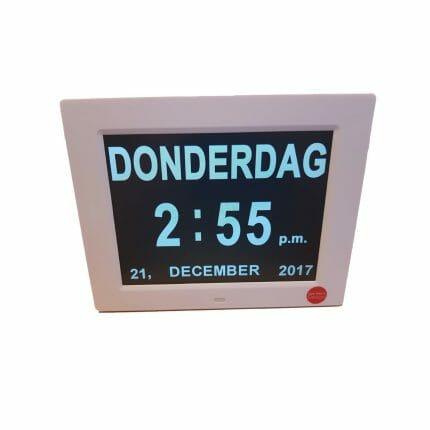 Digitale LED kalenderklok Low Vision Design