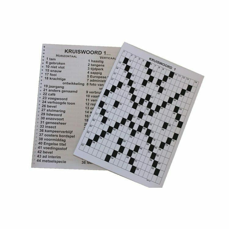 Kruiswoordpuzzel grootletter uitvoering ST694751