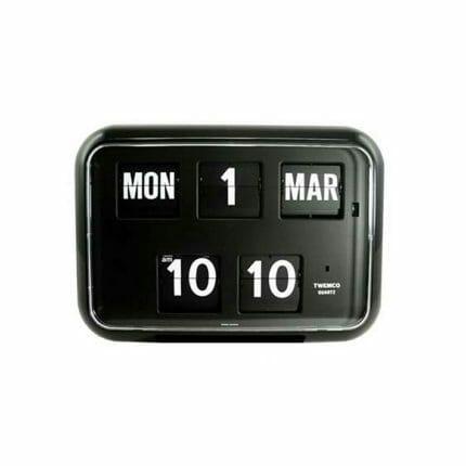 Kalenderklok Twemco QD 35 zwart ST644104-0