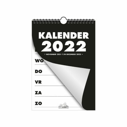 Grootletter weekkalender A4 - 2022